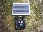HIPOWER SOLAR PANEL AND 14CM FAN KIT FOR SOLAR VENTILATION